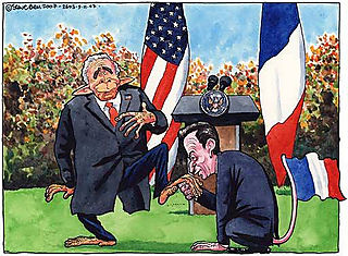 Sarkozy and Bush