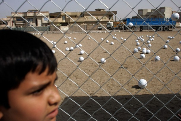 Iraq Footballs in a field